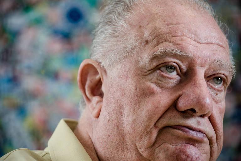 O ex-presidente do Palmeiras Mustafá Contursi em entrevista de 2017 à Folha