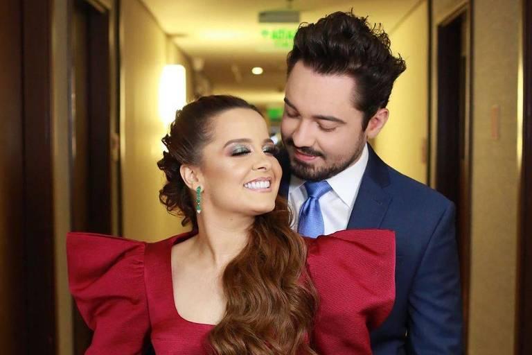 Maiara e Fernando Zor no casamento de Zé Neto e Natália