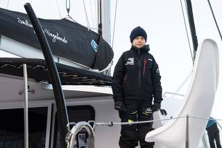 Greta Thunberg begins sail back across Atlantic, heading to climate summit