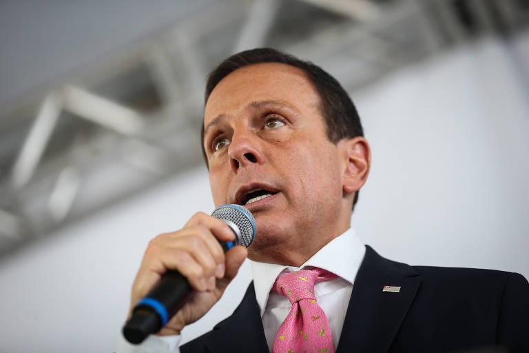 O governador de São Paulo, João Doria (PSDB), durante evento em novembro de 2019