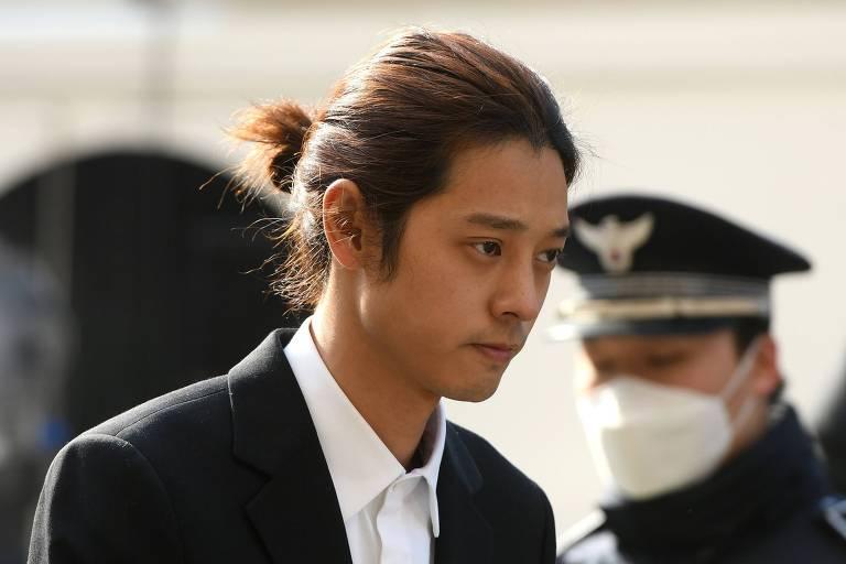 O cantor Jung Joon-young na Seoul Metropolitan Police Agency