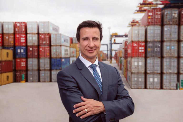 Ricardo Arten, presidente da BTP (Brasil Terminal Portuário), operador que mais movimentou contêineres no porto de Santos