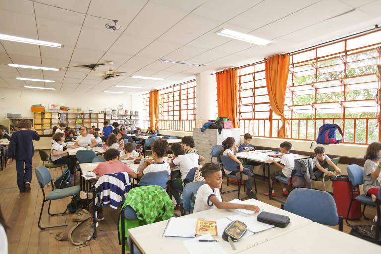 Salão de estudos da Escola Municipal Amorim Lima