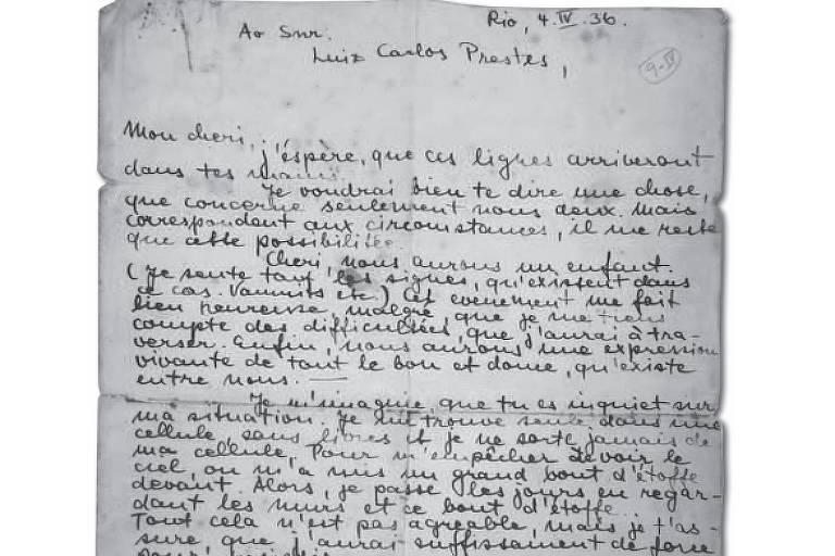 Carta de Olga Benário a Luiz Carlos Prestes
