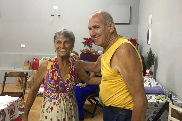Dalila Cesarino Martins e o marido, Sr. João