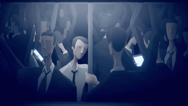 Cena do game norueguês 'Mosaic', que faz crítica ao capitalismo atual