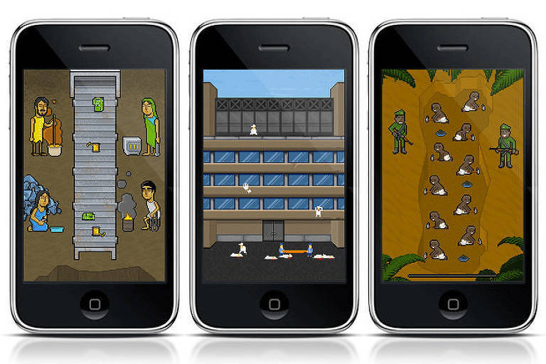 Game 'Phone Story' mostra a trajetória produtiva dos smartphones: trabalhadores escravizados no Congo, suicídios de funcuionários chineses e condições insalubres de quem recicla lixo gerado por celulares