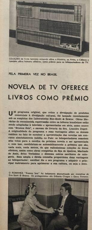 """Página da revista Cruzeiro, de 13 de dezembro de 1958, com foto de """"Éramos Seis"""""""