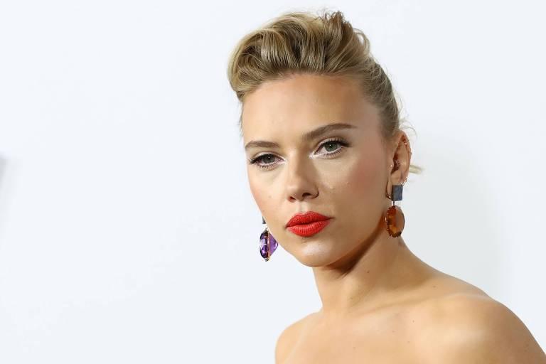 """A atriz Scarlett Johansson no lançamento de """"Marriage Story"""", da Netflix, em Los Angeles"""