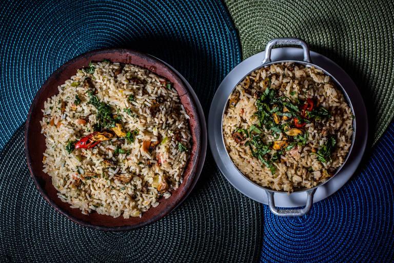 Vários pratos da casa passaram ater porções individuais para atender a demanda da clientela do bairro, como o arroz de sururu