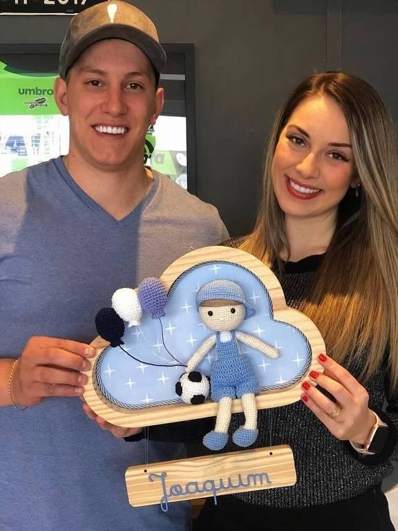 Jakson Follmann e a esposa Andressa estão na expectativa para o nascimento do filho, Joaquim