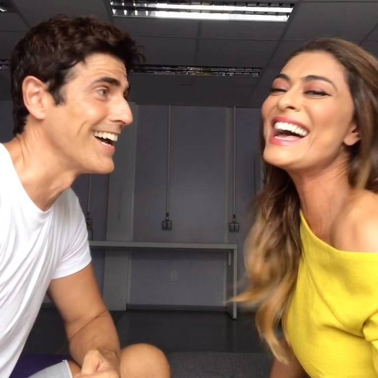Juliana Paes e Reynaldo Gianecchini canta música-tema de Vivi Guedes e Chiclete