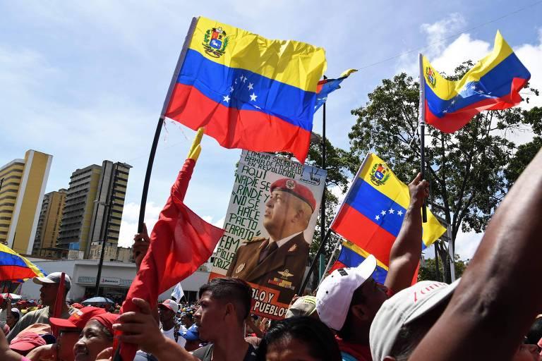 Manifestações contra e a favor do regime Maduro na Venezuela, no final de 2019