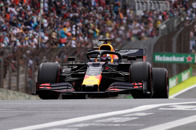 O piloto holandês Max Verstappen, da Red Bull, que largará em primeiro no GP do Brasil
