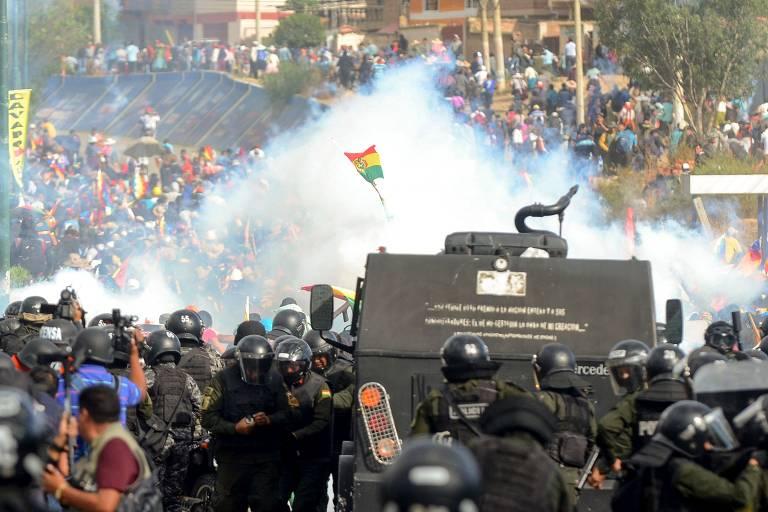 Bolívia investiga se Brasil e Chile tiveram envolvimento em confrontos após renúncia de Evo