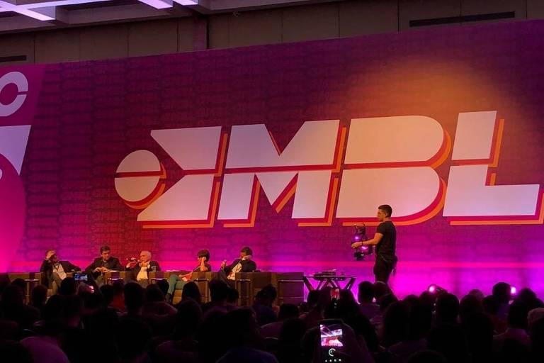 O ex-presidente Michel Temer participa do Congresso Nacional do MBL, em São Paulo