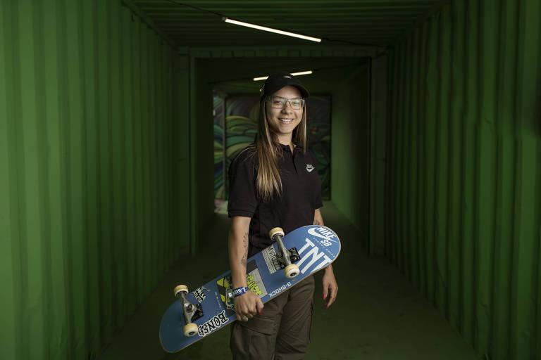 A skatista brasileira Pâmela Rosa, líder do ranking olímpico e atual campeã mundial de Street