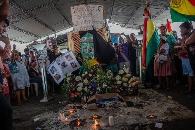 Confrontos na região de Santa Cruz, na Bolívia, em novembro
