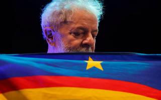 Former Brazil president Luiz Inacio Lula da Silva's rally in Recife