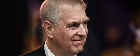 Britain's Prince Andrew, Duke of York leaves after speaking at the ASEAN Business and Investment Summit in Bangkok on November 3, 2019, on the sidelines of the 35th Association of Southeast Asian Nations (ASEAN) Summit. (Photo by Lillian SUWANRUMPHA / AFP)