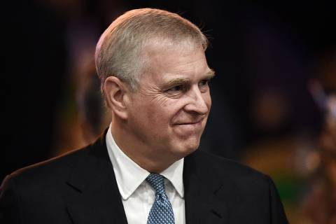 (FILES) In this file photo taken on November 03, 2019, Britain's Prince Andrew, Duke of York leaves after speaking at the ASEAN Business and Investment Summit in Bangkok, on the sidelines of the 35th Association of Southeast Asian Nations (ASEAN) Summit. - Britain's Prince Andrew has said he does not remember meeting Virginia Roberts, one of disgraced US financier Jeffrey Epstein's alleged victims, who claims she was forced to have sex with the royal. But Andrew admitted in an interview with the BBC due to be broadcast on November 16, 2019, that his decision to remain friends with Epstein after he was convicted of soliciting prostitution from a minor was a serious error of judgement. (Photo by Lillian SUWANRUMPHA / AFP)