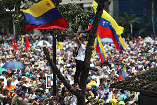 Protest march against Venezuela's President Nicolas Maduro in Caracas