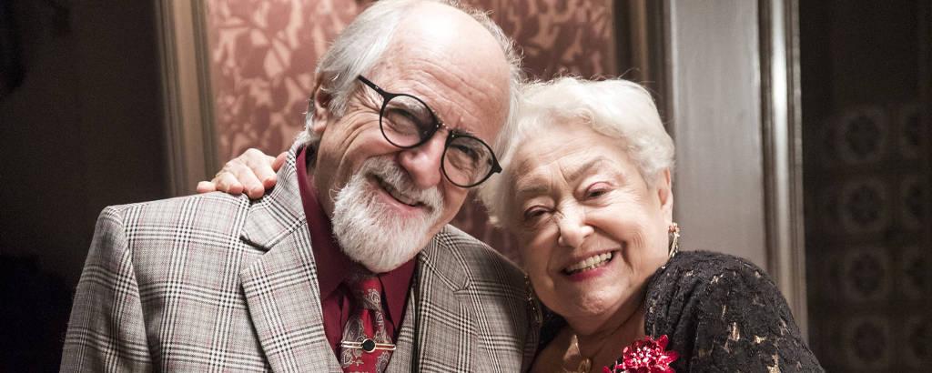 Marlene (Suely Franco) e Antero (Ary Fontoura), na novela