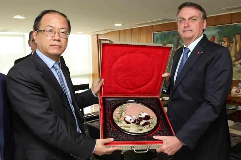 Presidente Jair Bolsonaro em Audiência Audiência com Zou Zhilei, presidente regional da Huawei Latin America