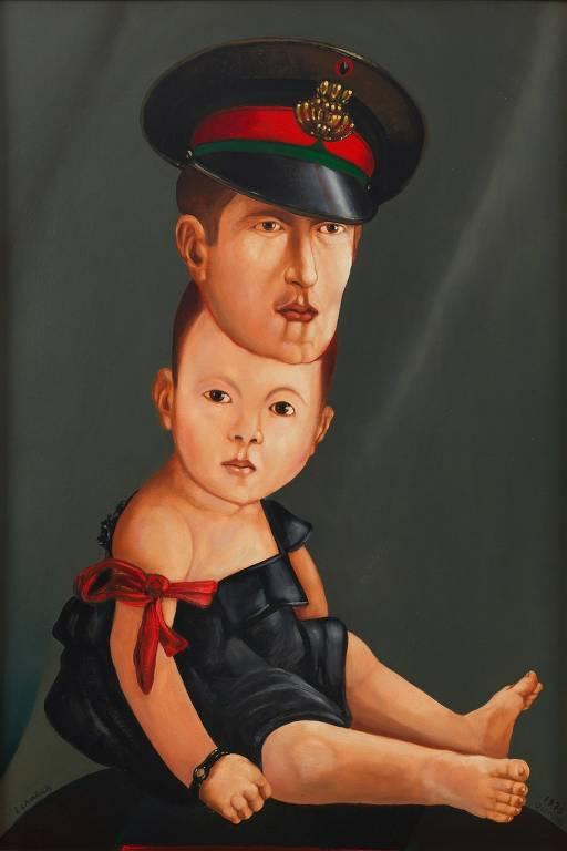 'Viável Disparate', pintura de João Câmara de 1976 exibida no Museu Afro Brasil, no Ibirapuera