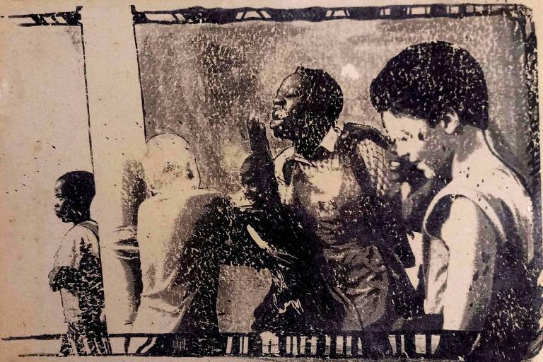 Infogravura da série Álbum de Família (2011), de Anderson AC, exibida no Museu Afro Brasil, no Ibirapuera