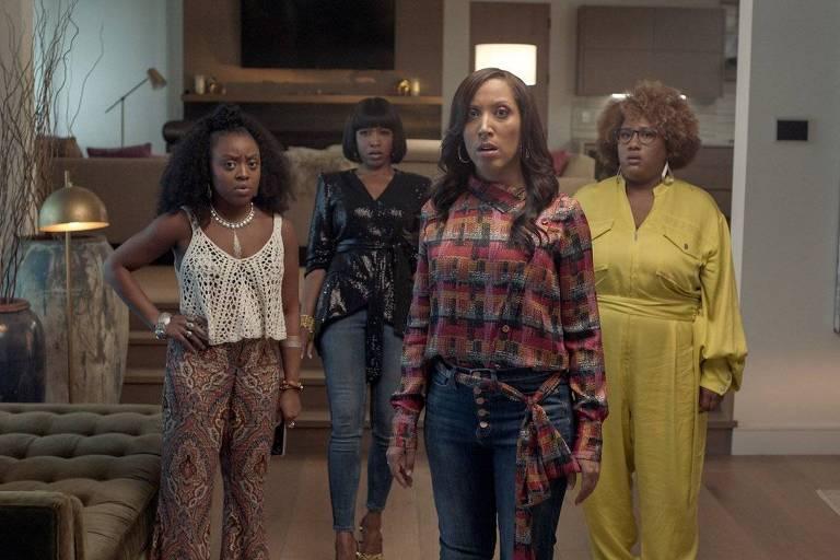"""Cena da série """"A Black Lady Sketch Show"""""""