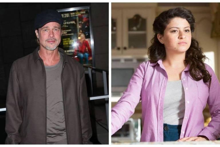 Os atores Brad Pitt e Alia Shawkat