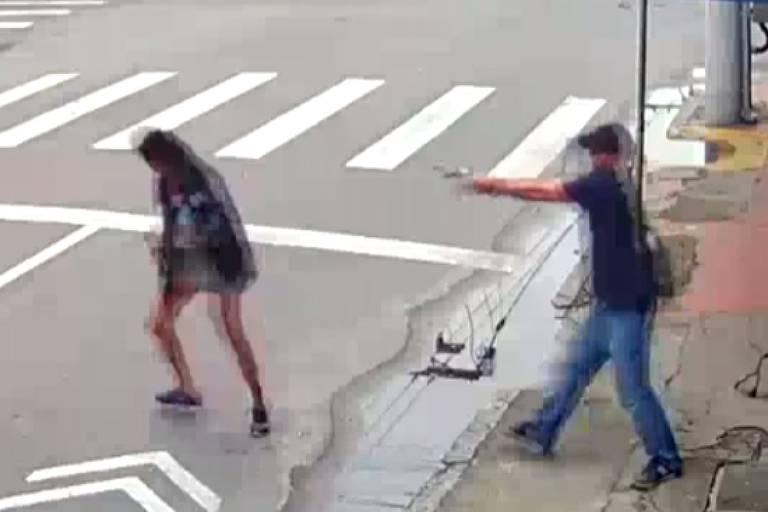 Imagem de câmera de segurança mostra mulher sendo morta em Niterói