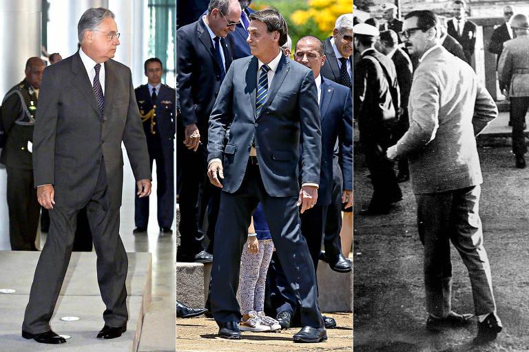 Em montagem, os presidentes Fernando Henrique Cardoso, Jair Bolsonaro e Jânio Quadros