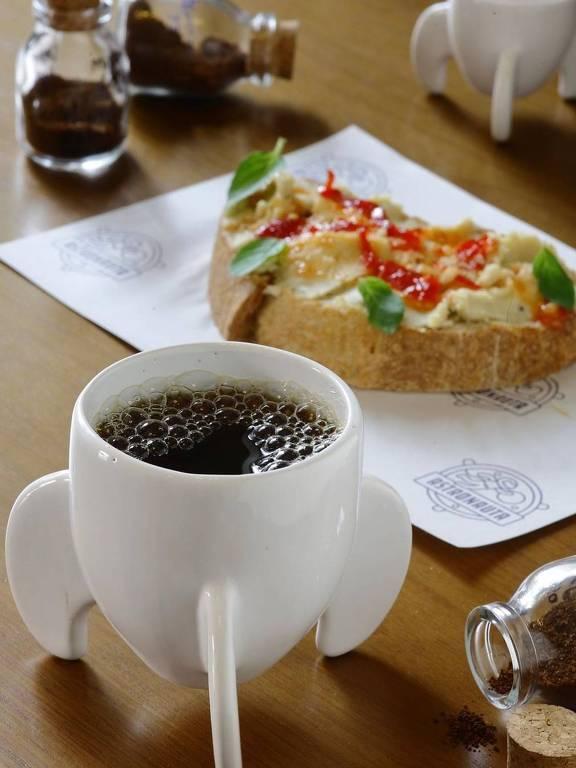 Café e torrada do Astronauta Café