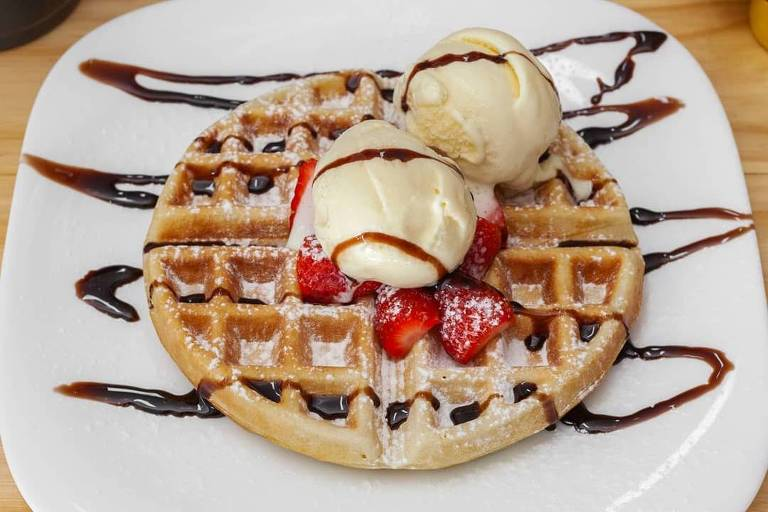 Waffle do café Doce Cor