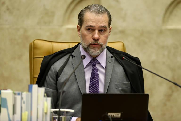 O presidente do STF, Dias Toffoli, em julgamento sobre troca de dados sigilosos