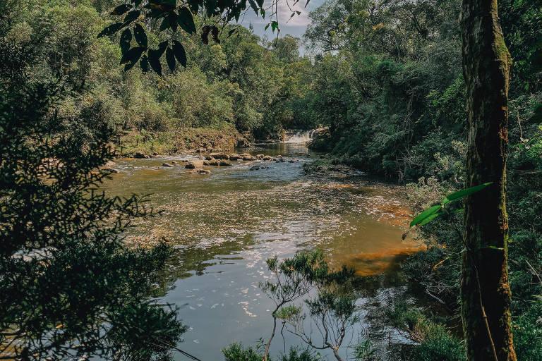 Rio Capivari, na trilha dos Manacás, no extremo sul da cidade