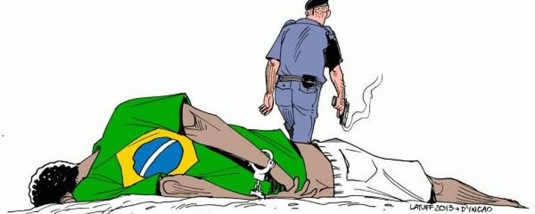 Imagem sobre violência policial contra população negra rasgada pelo deputado Coronel Tadeu