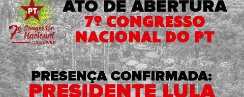 Cartaz que chamava para ato com Lula em SP, que foi cancelado