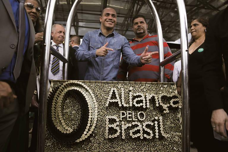 Convenção de lançamento do partido Aliança pelo Brasil, em novembro