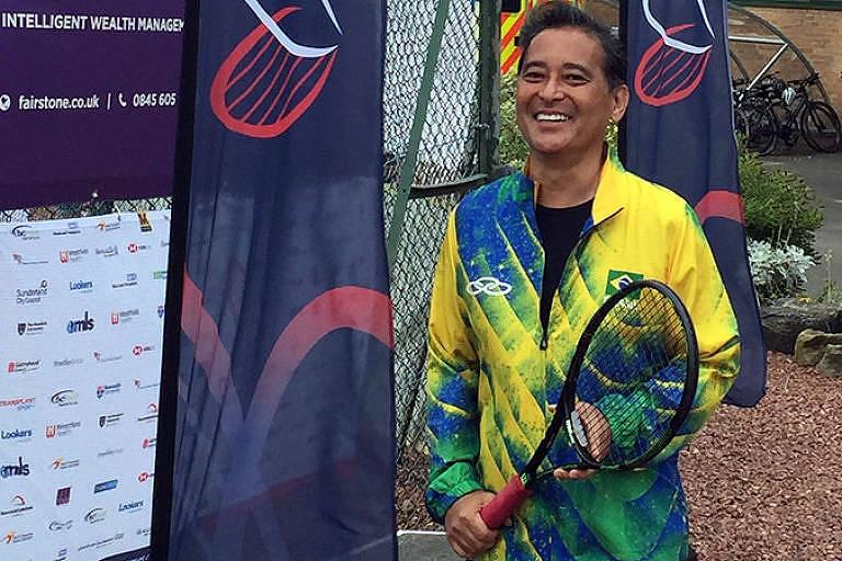 Edson Arakaki, tenista, que recebeu um rim da irmã há 18 anos