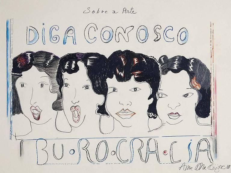 Obra de Anna Bella Geiger que integra a exposição Anna, na galeria Base