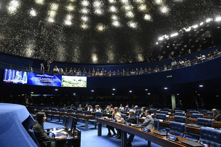Plenário do Senado Federal durante sessão especial