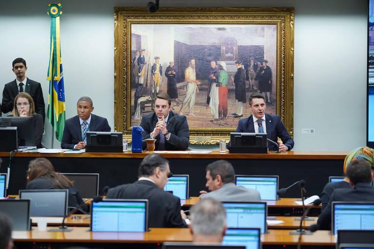 Sessão da Comissão de Constituição e Justiça da Câmara