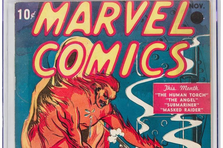 Quadrinho vintage da Marvel Comics é leiloado por US$ 1,26 milhão