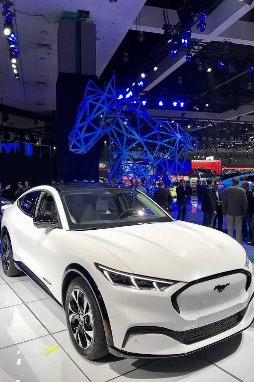 Mustang Mach E é o primeiro carro elétrico da marca americana. Lançamento está previsto para o fim de 2020 nos EUA e na Europa