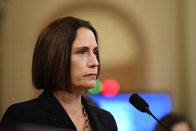 A ex-assessora do Conselho de Segurança Nacional para questões russas, Fiona Hill, depõe em Washington