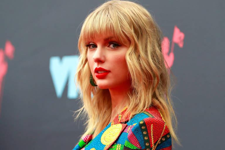 Cantora Taylor Swift na premiação Video Music Awards VMA em 2019