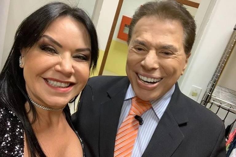 Flor junto com Silvio Santos